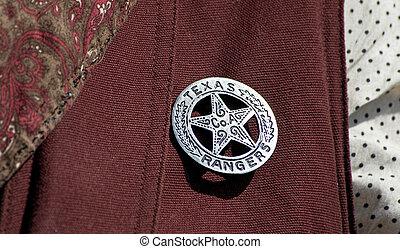 Texas, guarda-florestal, emblema