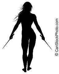 Woman Silhouette - Black silhouette of a woman