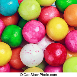 colors round bubblegum background - different colors round...