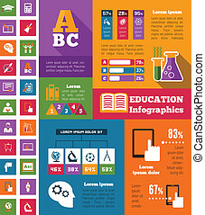 Education Infographics - Education Infographic Elements plus...