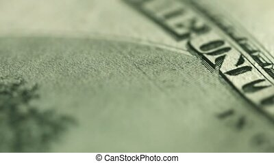 Dollar close up. Motto on money - in god we trust - UltraHD...