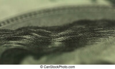 Dollar close up Eyes of US President - UltraHD video -...