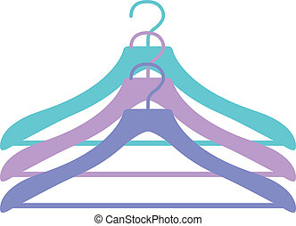 Three hangers icon in vector
