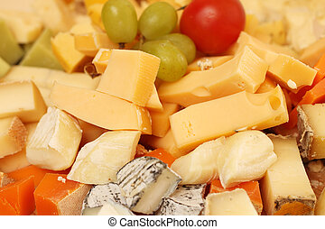 Cut cheese background - Cut french cheese blocks background...