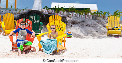 Kids on beach vacation