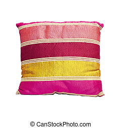 Straps pillow - Straps pattern pillow isolated included...