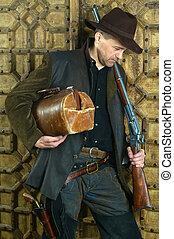 bandit, fusil