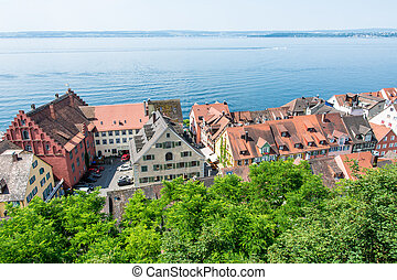 Meersburg at Lake Constance - View over the city of...