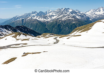 Alpine Panoramic View - Panoramic view of the Hohe Tauern...