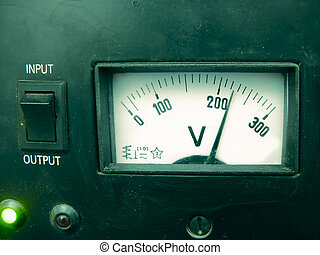 Analogue Voltage meter, Stabilizer