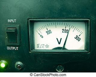 Analogue Voltage meter, Stabilizer