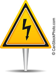 High Voltage - High voltage triangle sign, vector eps10...