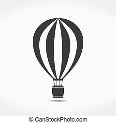 Hot Air Balloon Icon - Hot air balloon simple icon, vector...