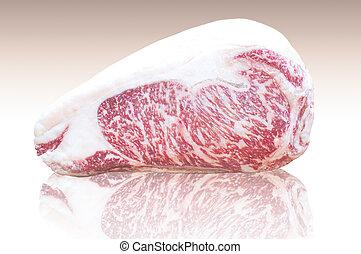 Kamui Wagyu beef fat, high quality marble Strip Lloyd...