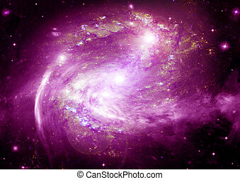 Far away spiral galaxy