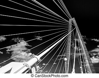 Cooper River Bridge Infrared - Cooper River Bridge in...