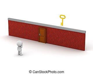 3D Character Wall Door Key