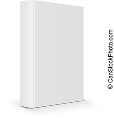 Blank book cover back. Vector illustration
