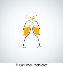 champagne glass background - champagne glass design vector...