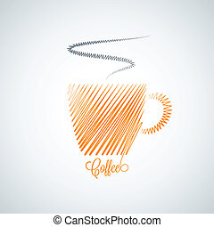 coffee cup design background - coffee cup design vector...