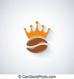 coffee bean crown menu background 10 eps