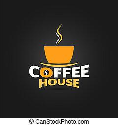 coffee cup design menu background