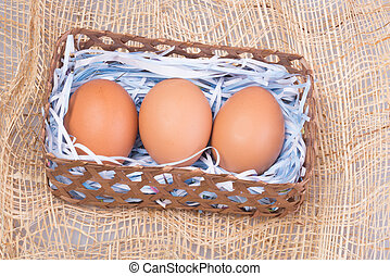Brown eggs are beautiful and yummy