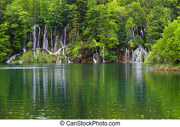 Plitvice Lakes - Waterfall in the Plitvice Lakes in Croatia