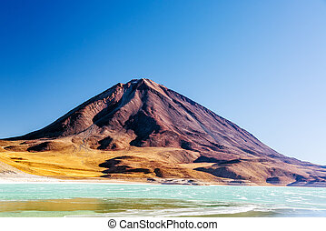 Licancabur Volcano View - View of Licancabur Volcano and the...