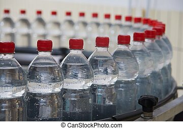 bottling plant - Bottling of mineral water in plastic...