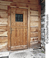 main door - exterir view of a rustic main door