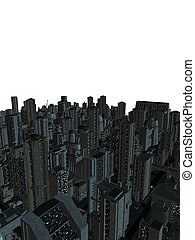Cityscape - An urban cityscape on a white background
