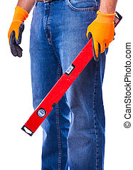 man holding a tool in the hands
