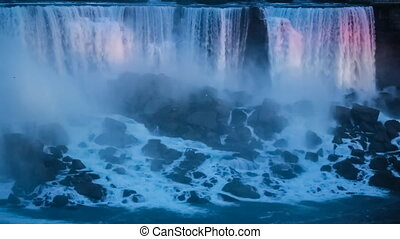Niagara Falls at Night - Niagara Falls - Colorful...