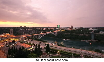 Rainbow Bridge, Niagara Falls - Sunrise over the Rainbow...