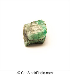 uncut emerald stone up close