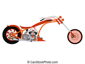 Chopper - Illustration of cartoon chopper on white...
