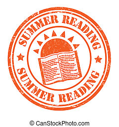 Summer reading stamp - Summer reading grunge rubber stamp on...