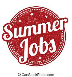 Summer jobs stamp - Summer jobs grunge rubber stamp on...