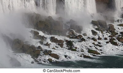 Niagara Falls - The American Falls as Seen from the Canadian...