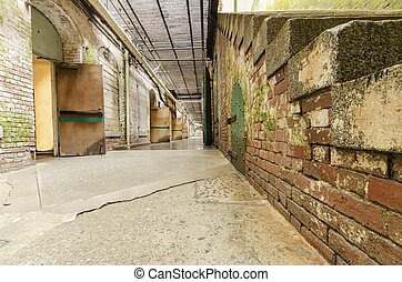 Alcatraz Underground tunnel, San Francisco, California - The...