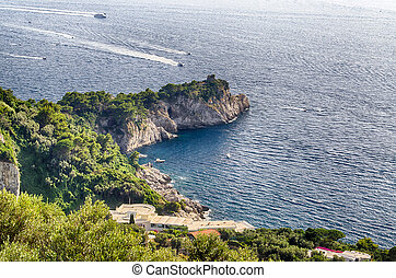 Coastline at Sorrento Peninsula, Italy - Coastline at Massa...