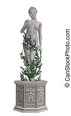 Grey Statue With Vines - Grey statue with vines