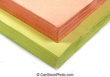 colored paper napkins