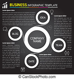 Business light infographic with cir - Vector infograhpics...
