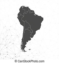 South America map vector, illustration for communication