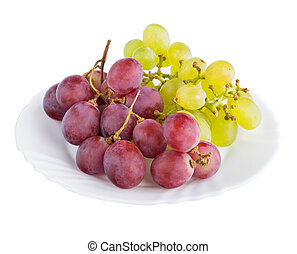 Grapes on a white background, isolated