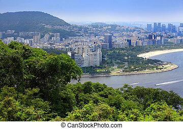 Rio aerial view - Aerial view of Rio de Janeiro  landscape