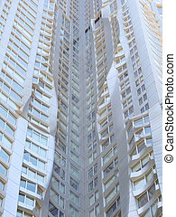 New York by Gehry - view of a skyscraper in New York by...