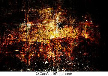 grunge texture, wall background, vignette